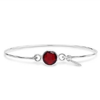 Silver January Birthstone Bracelet