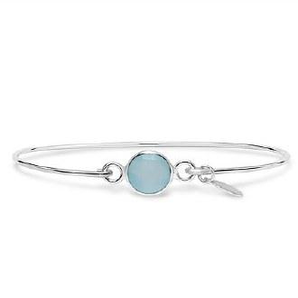 Silver March Birthstone Bracelet