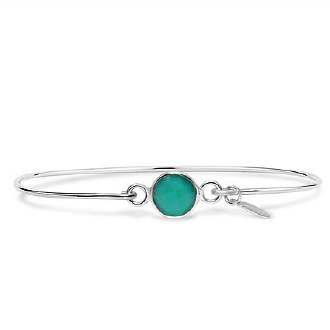Silver May Birthstone Bracelet