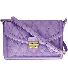 Quilted Tess Leather Crossbody Lavender