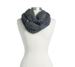 Textured Infinity Scarf: Charcoal