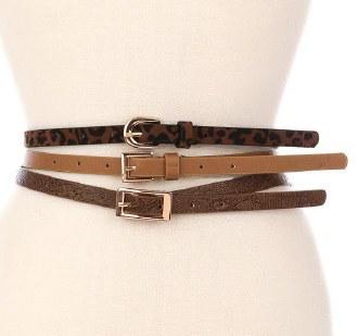 Skinny Snake Print Belt