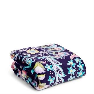 Plush Throw Blanket French Paisley