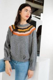 Crochet Collar Sweater