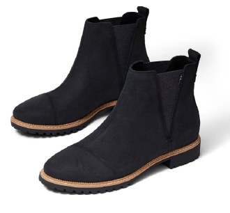 Water Resistant Black Leather Boots
