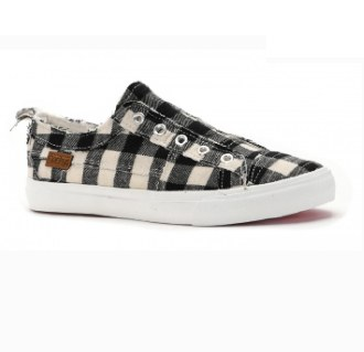 Black & White Plaid Sneaker