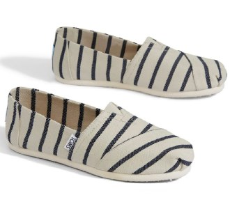 Navy & White Riviera Stripe 6.5