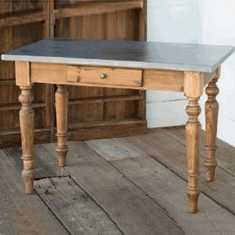 Zinc Top Cottage Table