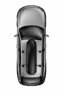 Force Alpine 12 Cubic Foot Matte Black Roof Mounted Cargo Carrier 623 Thule