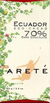 Areté Eco Cacao, Ecuador 70% Dark Chocolate