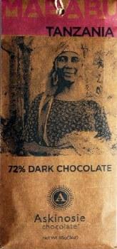 Askinosie Mababu, Tanzania 72% Dark Chocolate