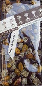 Chocolate Maker's Studio Ginger & Pistachios Dark Chocolate Bar