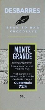 Desbarres Monte Grande 72% Dark Chocolate