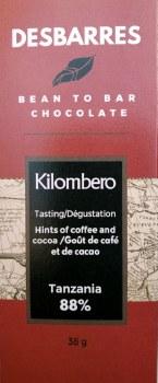 Desbarres Tanzania 88% Dark Chocolate