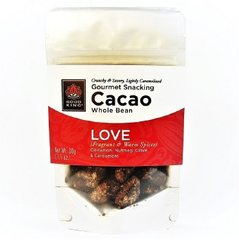 """Good King Gourmet Snacking Cacao (Whole Bean) - """"Love"""" 1.1oz"""