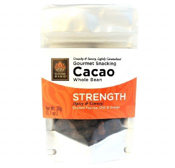 """Good King Gourmet Snacking Cacao (Whole Bean) - """"Strength"""" 1.1oz"""