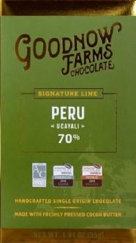 Goodnow Farms Ucayali, Peru 70% Dark Chocolate