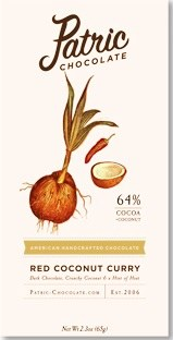 Patric Red Coconut Curry 64% Dark Chocolate