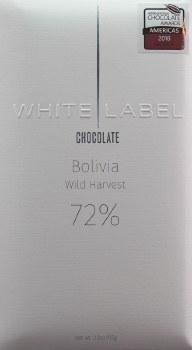 White Label Bolivia Wild Harvest 72% Dark Chocolate