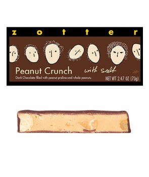 Zotter Peanut Crunch with Salt Filled Chocolate Bar