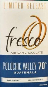 Fresco Polochic Valley, Guatemala Dark Roast 70% Dark Chocolate