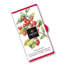 Amedei Red 70% Dark Chocolate with Strawberries, Raspberries & Cherries