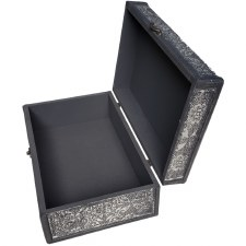 Embossed Wooden Box with Filigree
