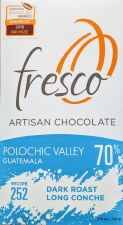 Fresco Polochic Valley, Guatemala Dark Roast 70% Dark Chocolate