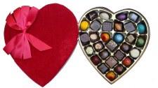 Deluxe Velvet Heart Truffle Box 29pc