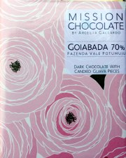 Mission Chocolate 70% Dark Chocolate with Candied Guava