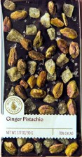 Wildwood Chocolate Ginger & Pistachios 70% Dark Chocolate Bar