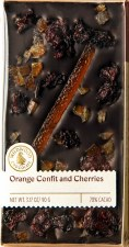 Wildwood Chocolate Orange Confit & Cherries 70% Dark Chocolate Bar