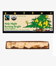 "Zotter ""Holy Night-Burning Bright"" Filled Chocolate Bar"