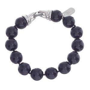 12mm Pearl Bracelet Black