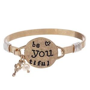"""""""Be You Tiful"""" Bracelet Gold"""