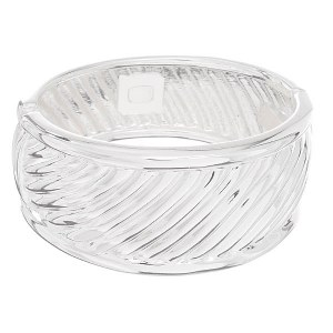 Wide Cable Bangle Silver