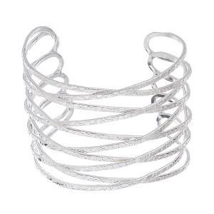 Textured Criss Cross Cuff Bracelet