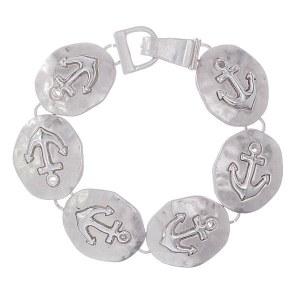 Anchor Silver Link Bracelet