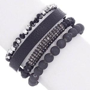 4 Strand Bead Stretch Bracelet