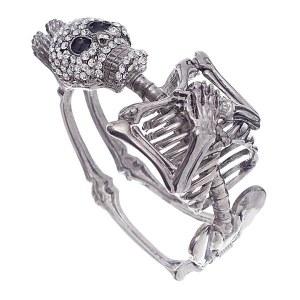 Silver Skeleton Body Hinge Bracelet
