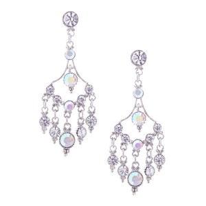 Rhinestone Chandelier Earrings AB