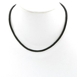 Black Canvas Cord Pewter Extender