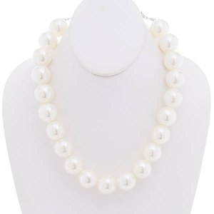 20mm Pearl Necklace Set Cream