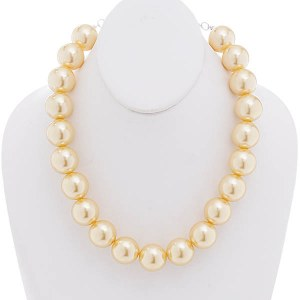 20mm Pearl Necklace Set Yellow