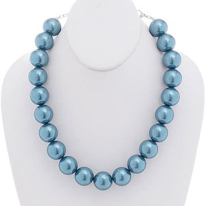 20mm Pearl Necklace Set Turquoise