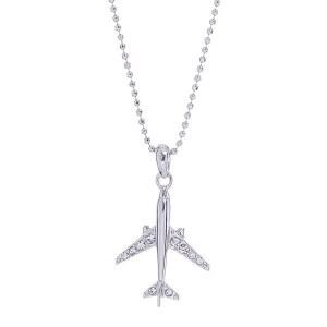 Airplane Pendant Necklace