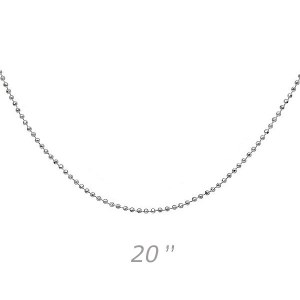 Bead 20 Silver Chain