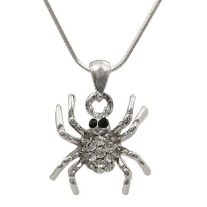 Round Spider Pendant Necklace