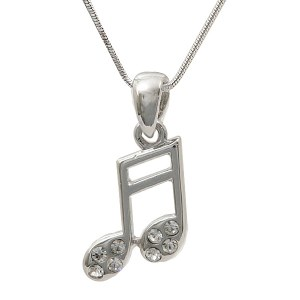 Sixteenth Note Pendant Necklace