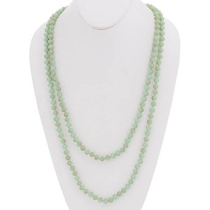 """60"""" Beaded Necklace Mint Green"""